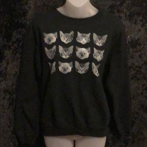 12 cats kitty kitten cat lover lady sweatshirt